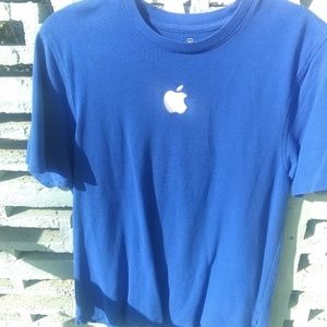 Apple employee blue knit size m embroidered Mac